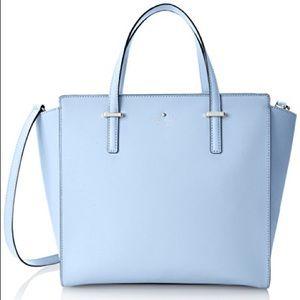 Kate Spade Cedar Street Hayden sky blue satchel